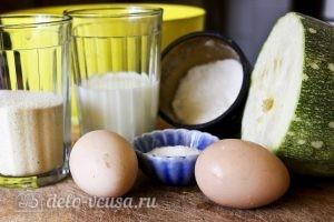 Оладьи из кабачков с манкой: Ингредиенты