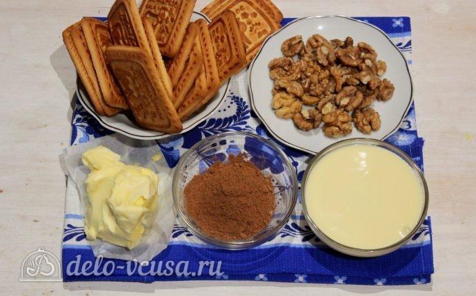 Пирожное Картошка из печенья со сгущенкой: Ингредиенты