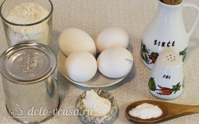 Пончики на сгущенном молоке: Ингредиенты