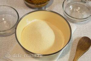 Постный тыквенный пирог: Добавляем манку