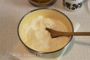 Постный тыквенный пирог: Перемешиваем сухую смесь