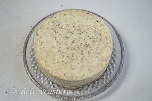 Муссовый кокосовый торт с шоколадом: Вынуть торт