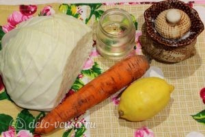 Салат из капусты и моркови: Ингредиенты