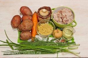 Суп с фрикадельками и лапшой: Ингредиенты