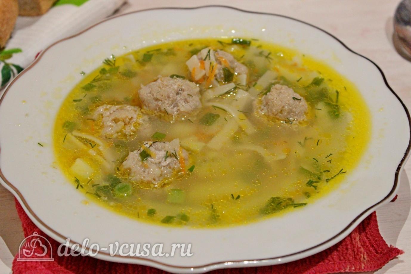 Суп с фрикадельками рецепт ребенку на