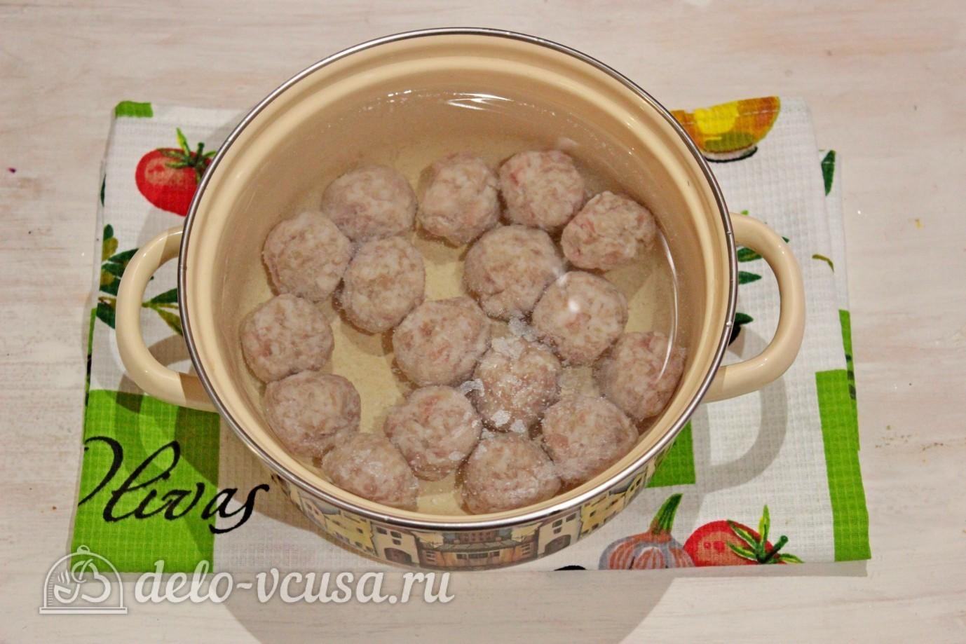 рецепт супа с фрикадельками и вермишелью с фото