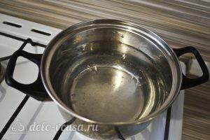 Овощной суп с зеленым горошком: Нагреть воду