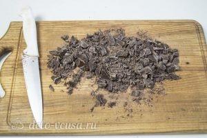 Торт Черный лес: Измельчаем шоколад