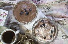 Ванильно-шоколадный творожный десерт