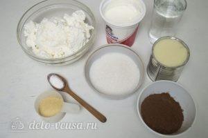 Ванильно-шоколадный творожный десерт: Ингредиенты