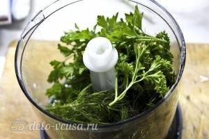 Блины с творогом и зеленью: Добавить зелень