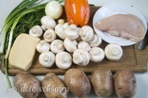 Фаршированный картофель с грибами и курицей: Ингредиенты