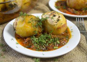 Картофельные гнезда с курицей