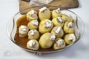 Картофельные гнезда с курицей: фото к шагу 11