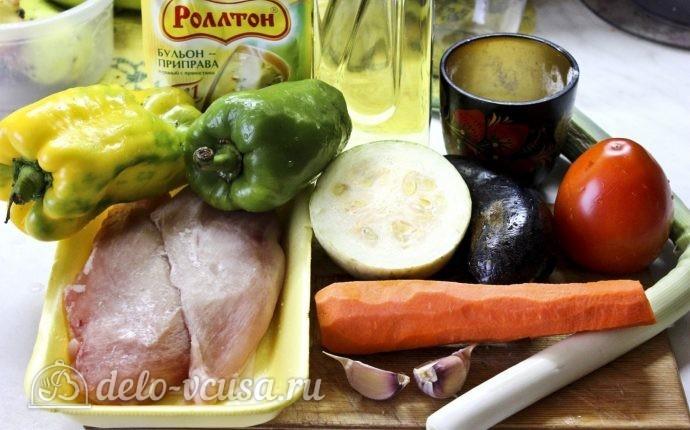 Курица с овощами в горшочках: Ингредиенты