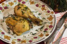 Курица в духовке с маслом