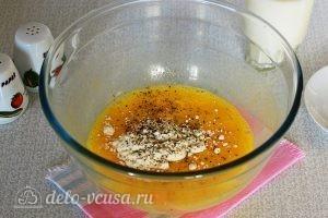 Омлет с овощами в духовке: Взбиваем яйца