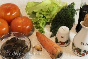 Овощной салат с оливковым маслом: Ингредиенты