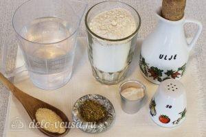 Пампушки без дрожжей с чесноком: Ингредиенты