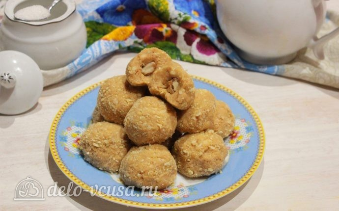 Пирожные из печенья и сгущенки