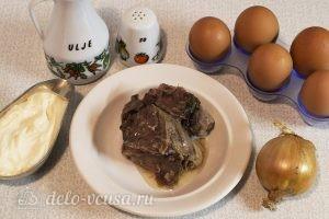 Салат с говядиной и яйцом: Ингредиенты