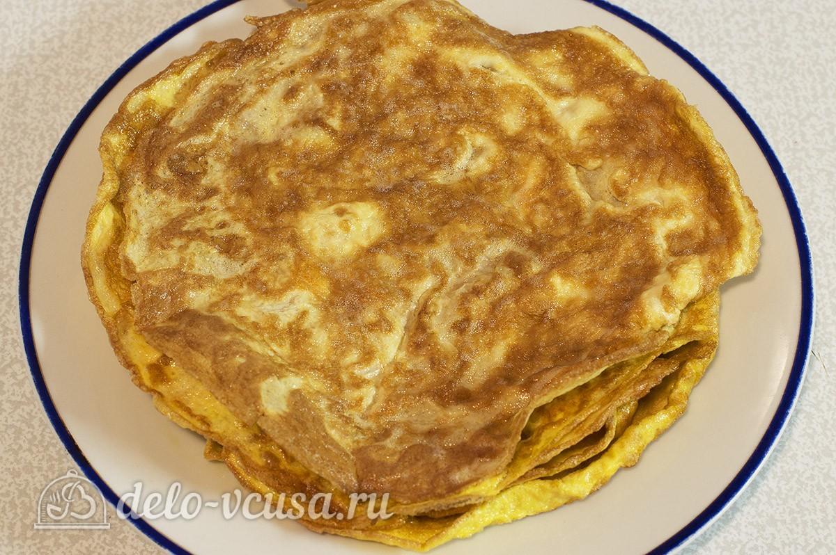салат из яичных блинов рецепт фото
