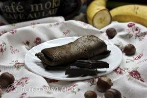 Шоколадные блины с бананом