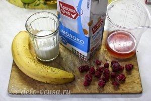 Смузи с малиной и бананом: Ингредиенты