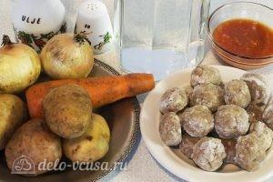Суп с фрикадельками и картошкой: Ингредиенты