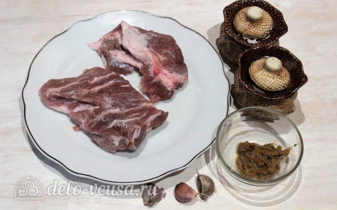 Свинина с горчицей в фольге: Ингредиенты