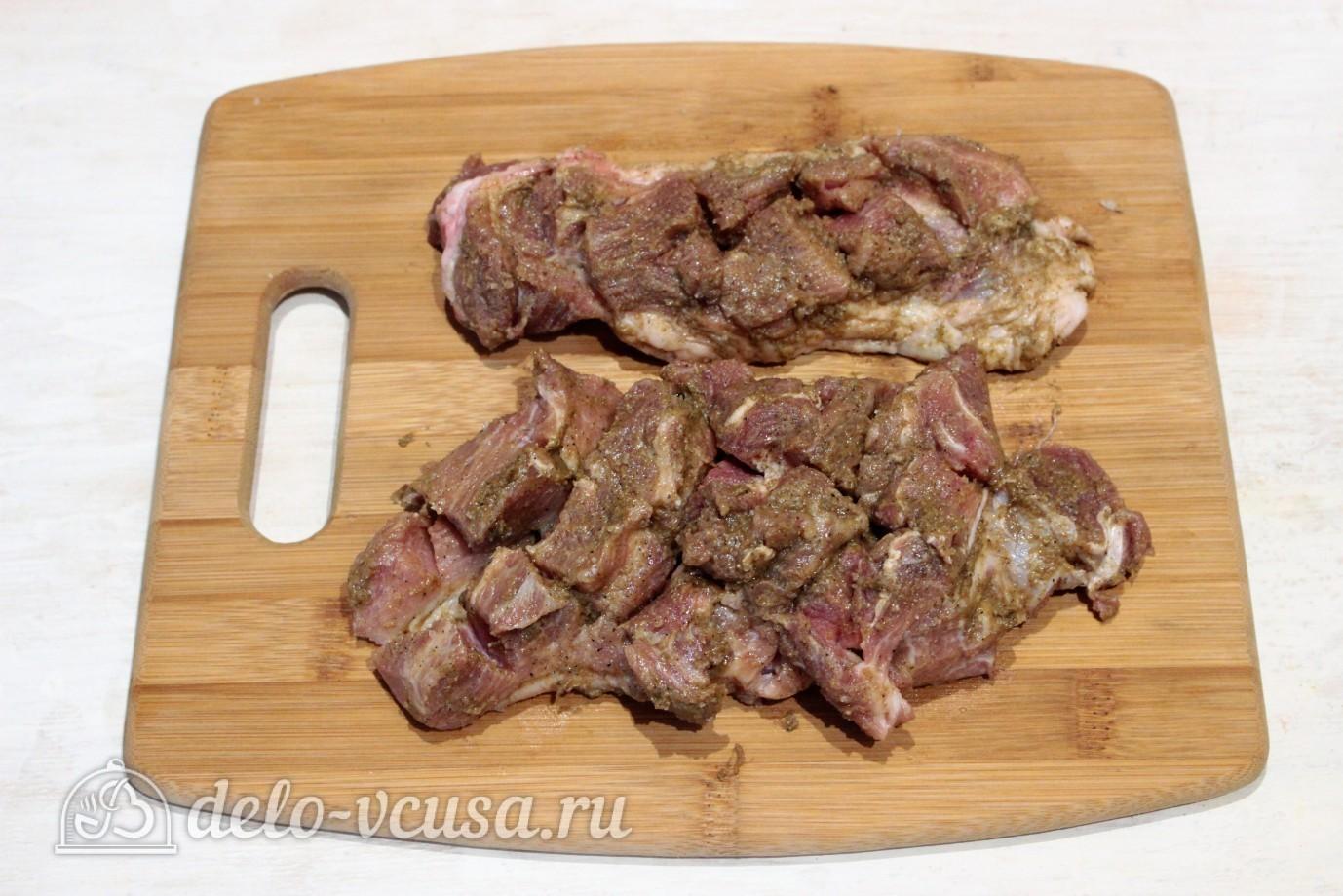 Свинина маринованная в горчице и майонезе