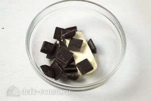 Торт Пьяная вишня: Растопить шоколад