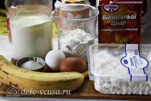 Блины с творогом и бананом: Ингредиенты