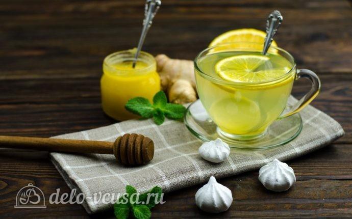 Имбирный чай с лимоном