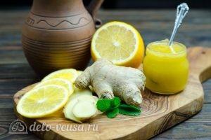 Имбирный чай с лимоном: Ингредиенты