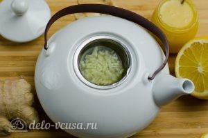 Имбирный чай с лимоном: Заливаем водой