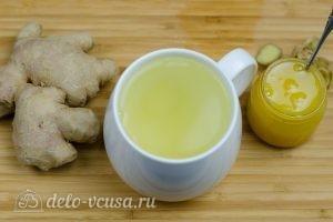 Имбирный чай с медом: Залить кипятком
