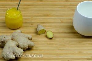 Имбирный чай с медом: Отмерить нужное количество корня