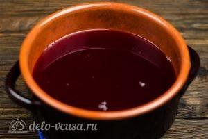Клюквенный морс: Добавить сок и размешать