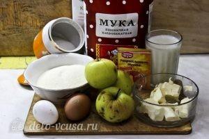 Пирог с манкой и яблоками: Ингредиенты