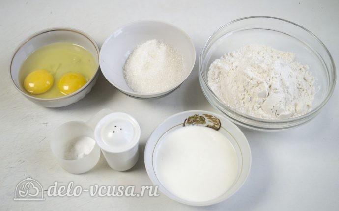 Пышки на сковороде: Ингредиенты