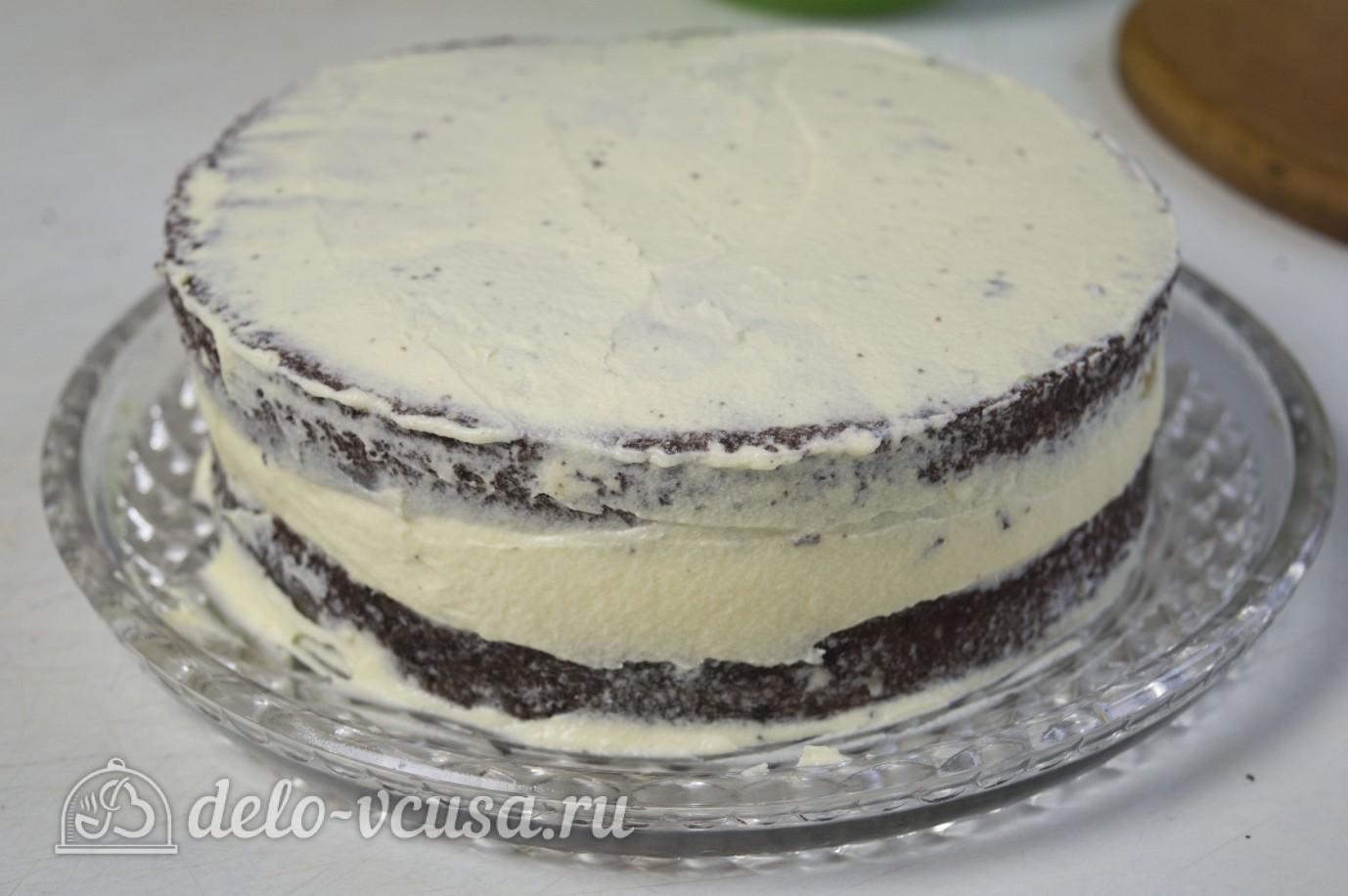 Рецепт песочного торта с заварным кремом и грецкими орехами
