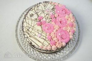 Шоколадный торт с заварным кремом: Украсить торт