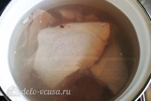 Мясная солянка: Варим бульон