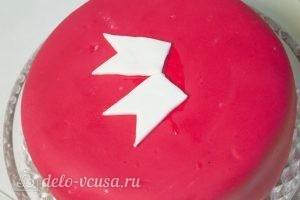 Торт на День Валентина: Готовим ленточки из мастики