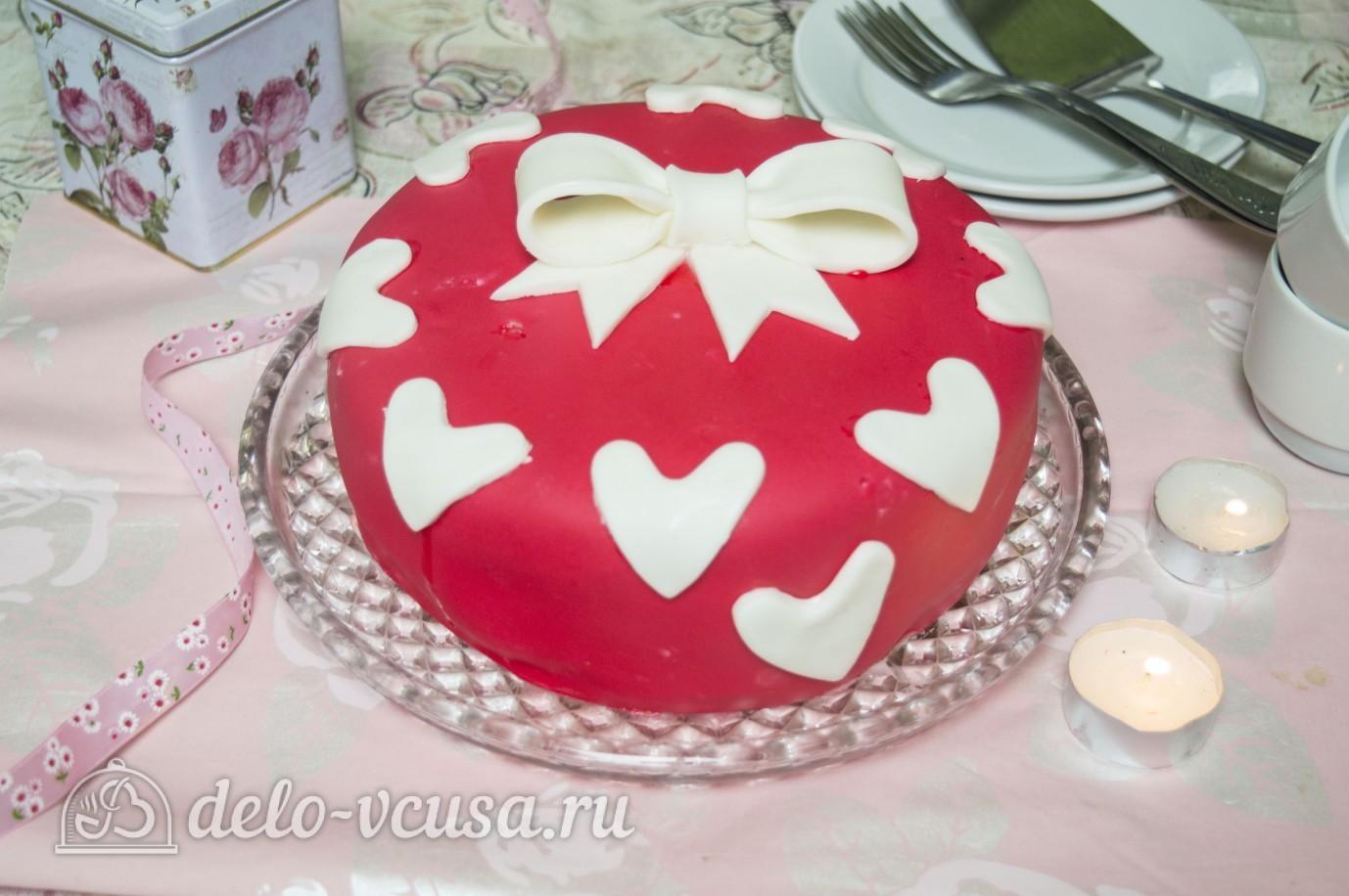 Романтический торт на День Святого Валентина как испечь Рецепт