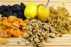 Витаминная смесь из сухофруктов: Ингредиенты