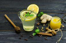 Зеленый чай с имбирем и корицей