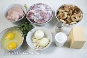 Бублики с фаршем в духовке: Ингредиенты