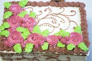 Медовик на желтках: Украшаем торт